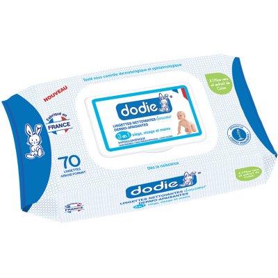 Lot de 3 paquets de lingettes nettoyantes douceur 3en1 + 1 paquet offert Dodie