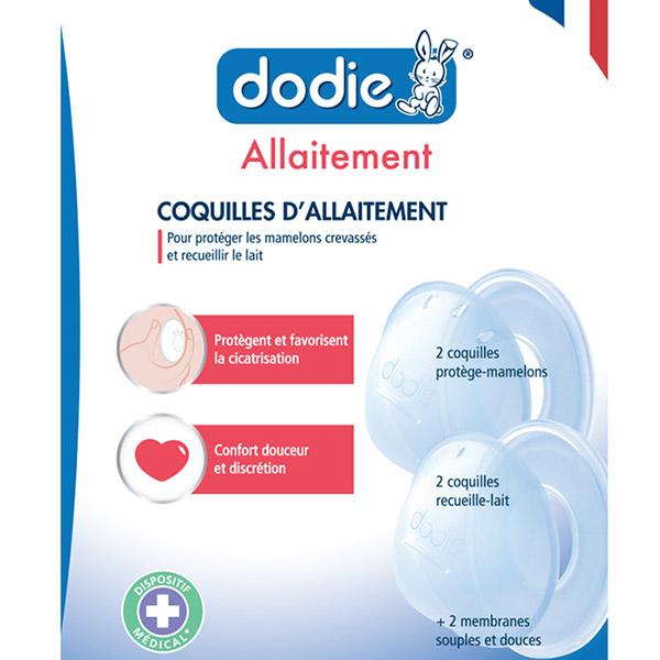 Lot de 4 coquilles d'allaitement Dodie