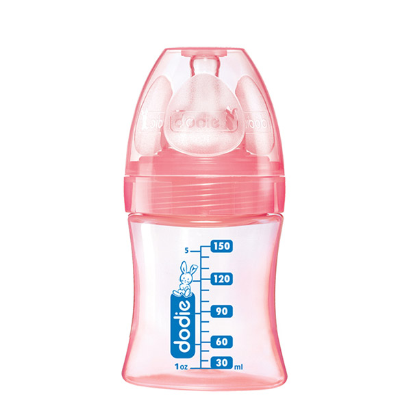 Biberon sans bpa initiation+ rose 150 ml Dodie