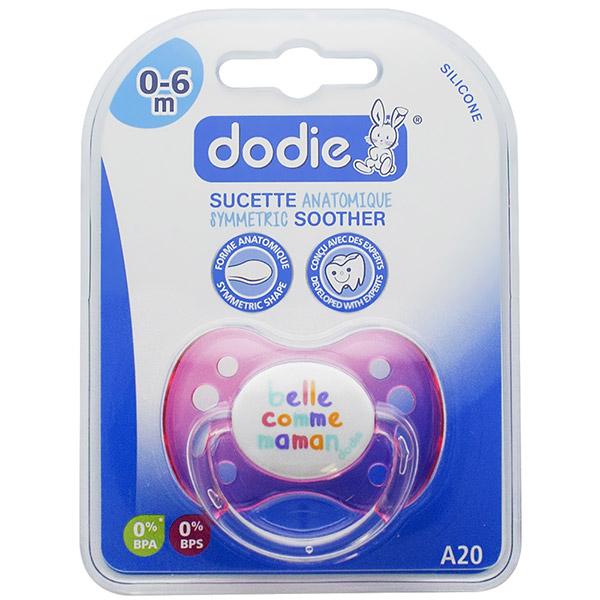 Sucette silicone avec anneau 0-6 mois belle comme maman rose Dodie