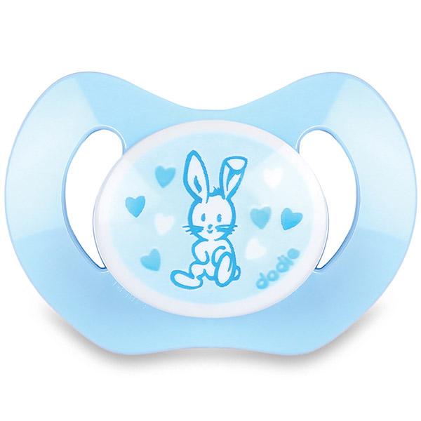 Sucette silicone nouveaux-nés valentin bleu Dodie
