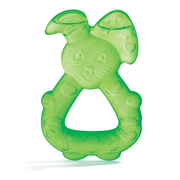 Anneau de dentition réfrigéré lapin vert Dodie
