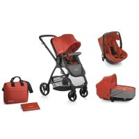 Pack poussette trio slide avec nacelle crib et coque one be solid poppy