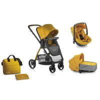 Pack poussette trio slide avec nacelle crib et coque one be solid gold
