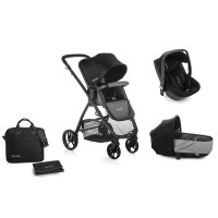 Pack poussette trio slide avec nacelle crib et coque one be solid black