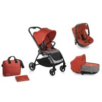 Pack poussette trio outback avec nacelle crib et coque one be solid poppy
