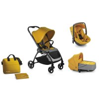 Pack poussette trio outback avec nacelle crib et coque one be solid gold