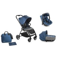 Pack poussette trio outback avec nacelle crib et coque one be solid ink