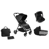 Pack poussette trio outback avec nacelle crib et coque one be solid black