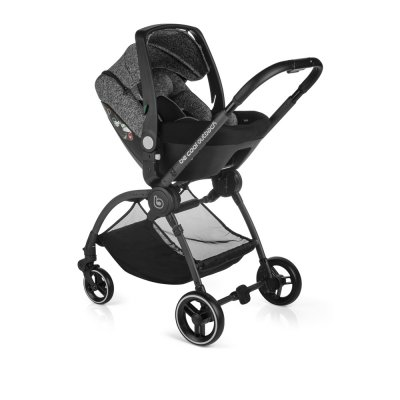 Pack poussette trio outback avec nacelle crib et coque one be solid melange Be cool