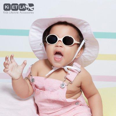 Lunettes de soleil bébé diabola 2 tailles en 1 blanc crème 0-18 mois Ki et la