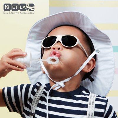 Lunettes de soleil bébé jokala 2-4 ans blanc crème Ki et la