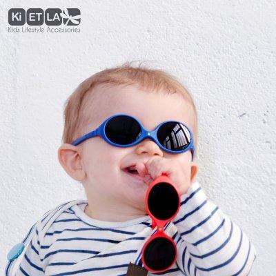 Lunettes de soleil bébé diabola 2 taille en 1 bleu royal 0-18 mois Ki et la