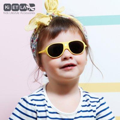 Lunettes de soleil bébé jokala 2-4 ans jaune Ki et la