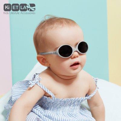 Lunettes de soleil bébé diabola 2 taille en 1 gris souris 0-18 mois Ki et la