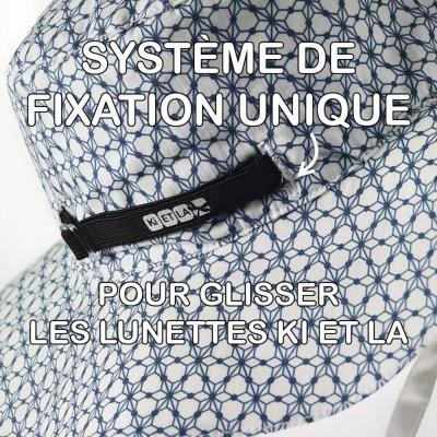 Chapeau kapel anti-uv reversible 12/18 mois graphik style Ki et la