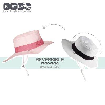 Chapeau kapel anti-uv reversible 6/12 mois pink Ki et la