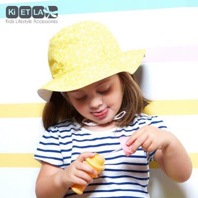 Chapeau kapel anti-uv reversible 12/18 mois cubik sun Ki et la