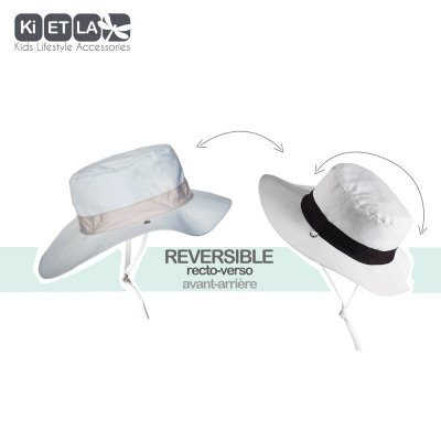 Chapeau kapel anti-uv reversible 12/18 mois sky Ki et la