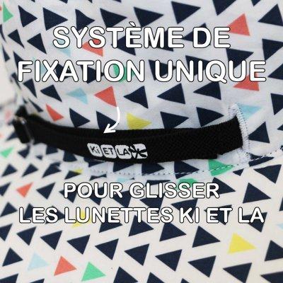 Chapeau kapel anti-uv reversible 2/4 ans fun fair Ki et la