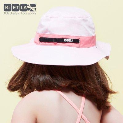 Chapeau kapel anti-uv reversible 2/4 ans pink Ki et la