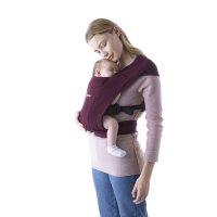 Porte-bébé physiologique embrace bordeaux
