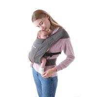 Porte-bébé physiologique embrace gris
