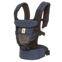 Porte-bébé physiologique adapt cool air mesh bleu noir