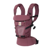 Porte-bébé physiologique adapt cool air mesh bordeaux
