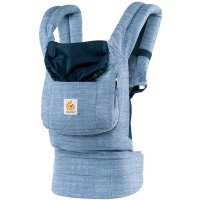 Porte-bébé physiologique original bleu vintage