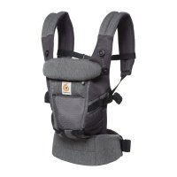 Porte-bébé physiologique adapt cool air mesh gris chiné