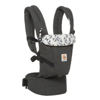 Porte-bébé physiologique adapt anthracite rosaces