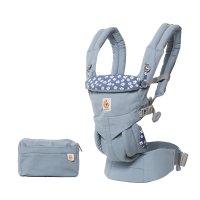 Porte-bébé physiologique omni 360 bleu marguerites