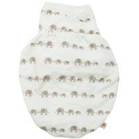 Couverture bébé d'emmaillotage eléphants