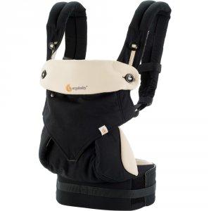 Porte bébé physiologique 4 positions 360 noir / beige