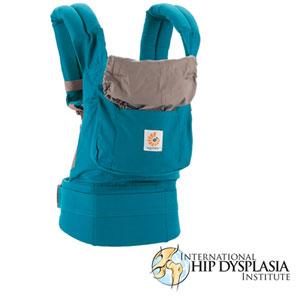 Porte bébé physiologique original bleu canard