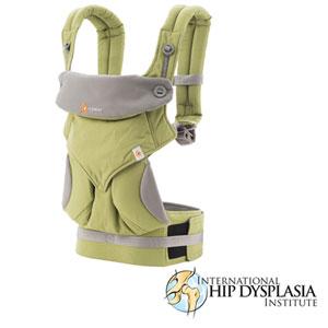 Porte bébé physiologique 4 positions 360 vert