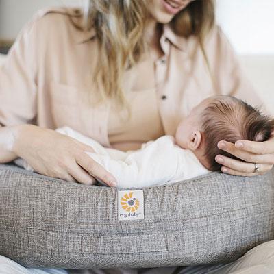 Coussin d'allaitement gris Ergobaby