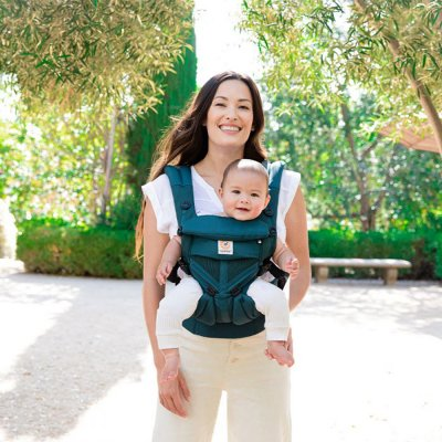 Porte-bébé physiologique omni 360 mesh vert émeraude Ergobaby