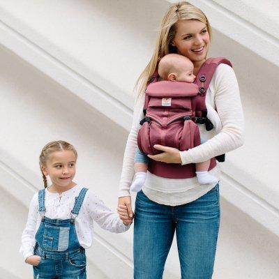 Porte-bébé physiologique omni 360 mesh bordeaux Ergobaby