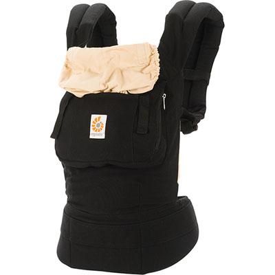Porte-bébé physiologique original + coussin nouveau né noir / beige Ergobaby