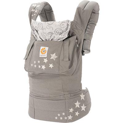 Porte-bébé physiologique original + coussin nouveau né gris cosmique Ergobaby