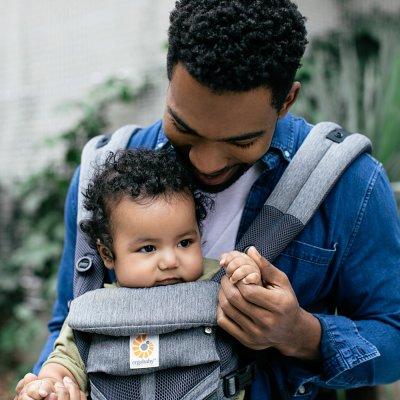 Porte-bébé physiologique omni 360 mesh gris chiné Ergobaby