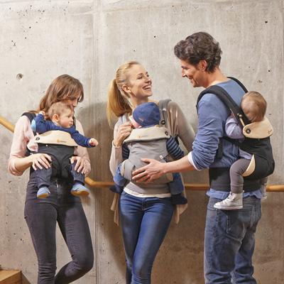 Porte bébé physiologique 4 positions 360 noir / beige Ergobaby