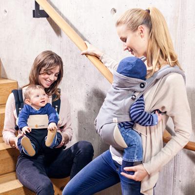 Porte bébé physiologique 4 positions 360 gris Ergobaby