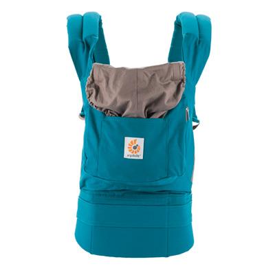Porte bébé physiologique original bleu canard Ergobaby