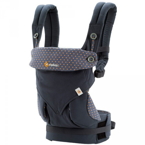 Porte bébé physiologique 4 positions 360 orange bleue Ergobaby