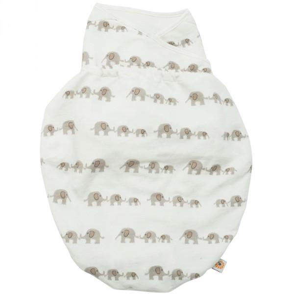 Couverture bébé d'emmaillotage eléphants Ergobaby