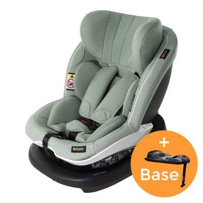 Pack siège auto izi modular i-size sea green+base groupe 0+/1 Besafe