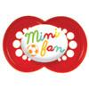 Lot de 2 sucettes silicone 6 mois + mini fan Mam
